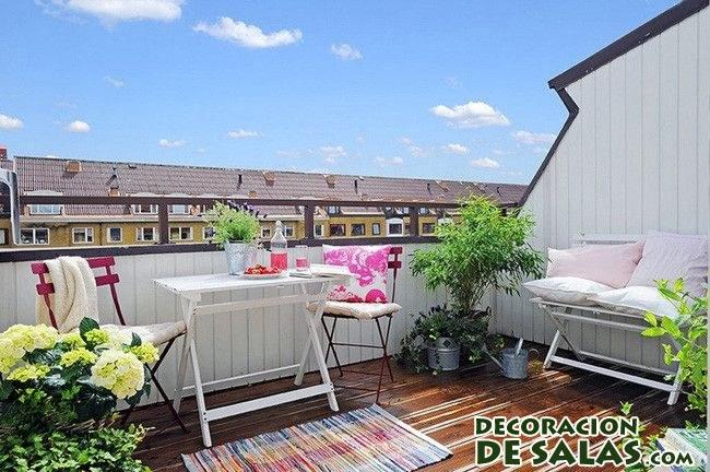 decoración en color de terrazas
