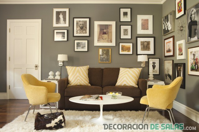 decoración en marrón y amarillo