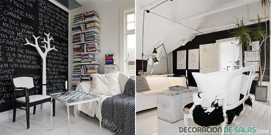 decoracion muebles blanco y negro