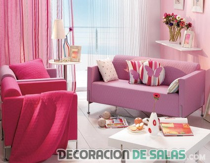 decoracion rosa habitacion