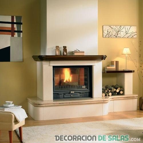 decoración sencilla para chimenea