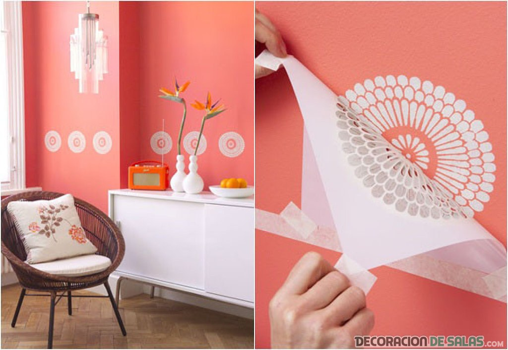 decorar pared con dibujos