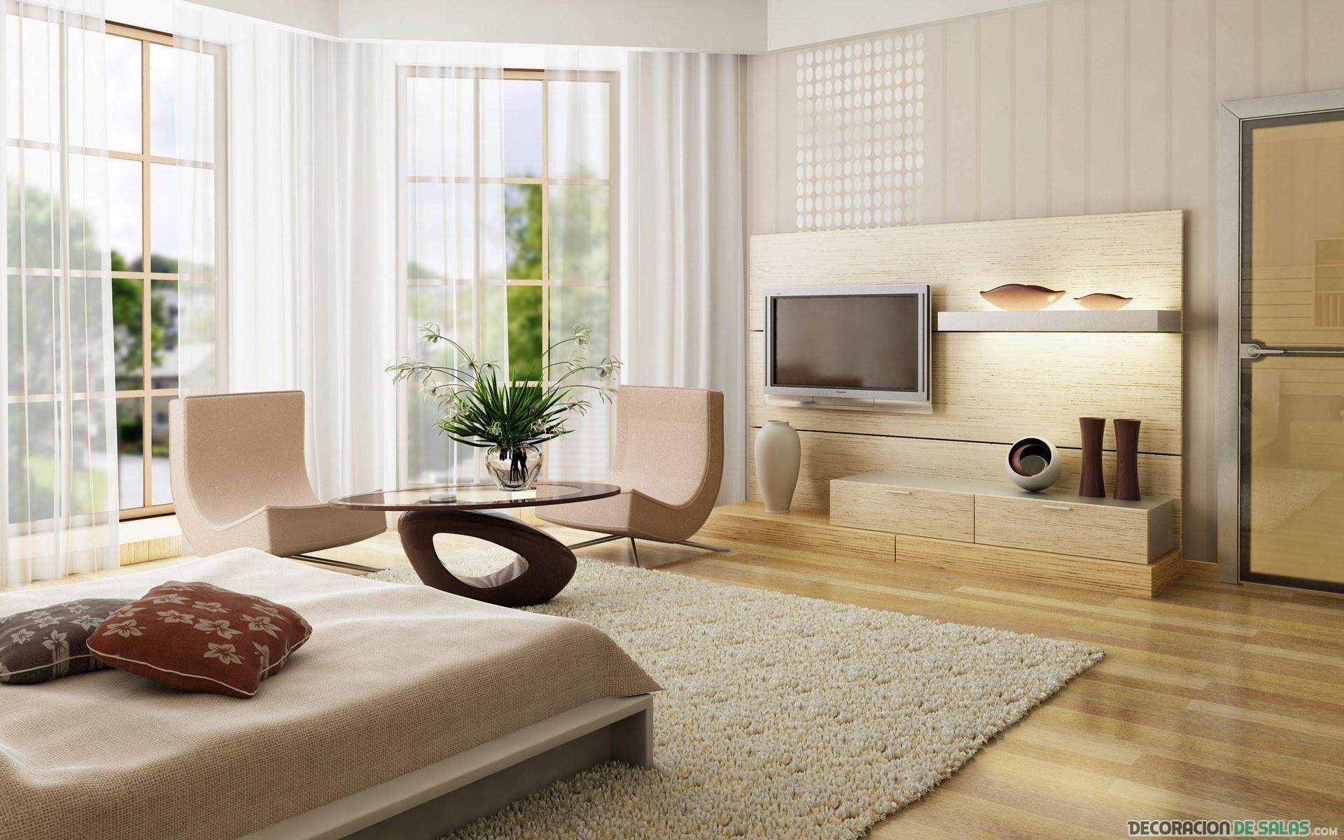 dormitorio amplio y elegante
