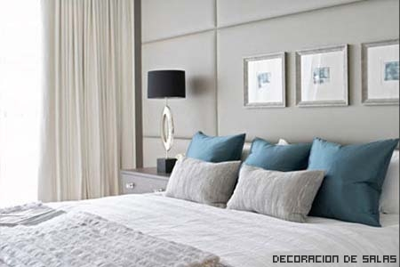 dormitorio azul gris