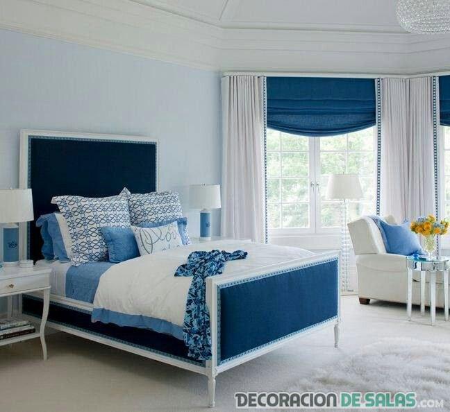 dormitorio azul intenso matrimonio