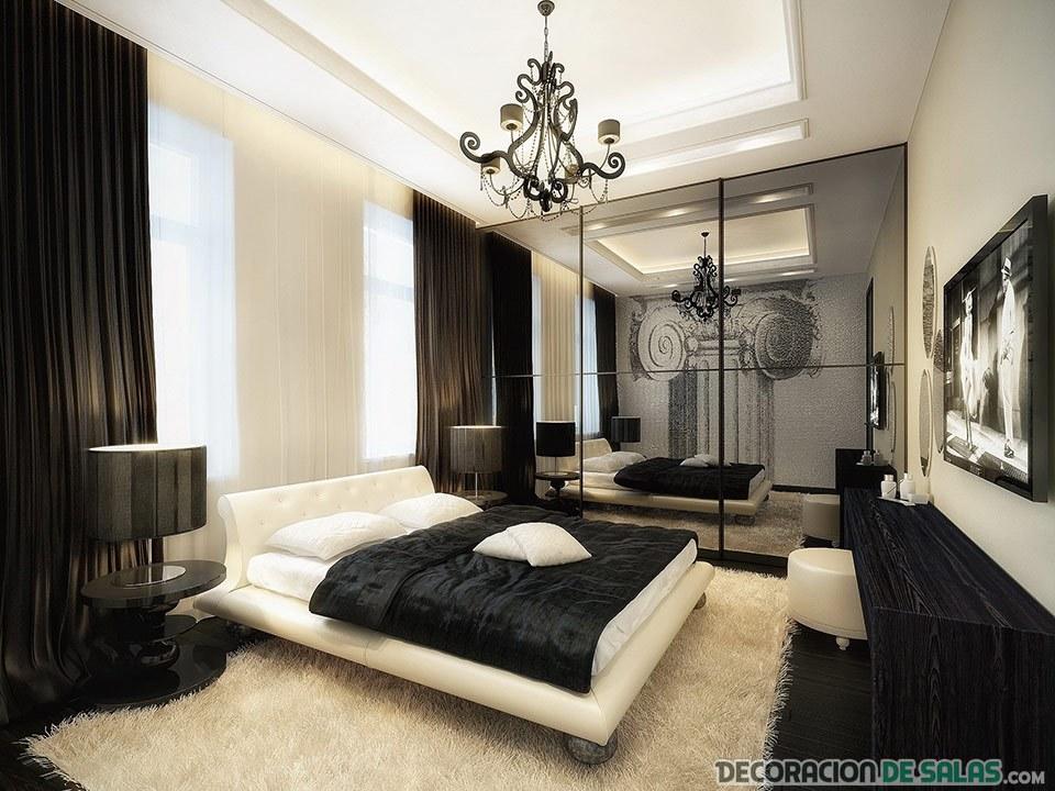 dormitorio clásico color negro