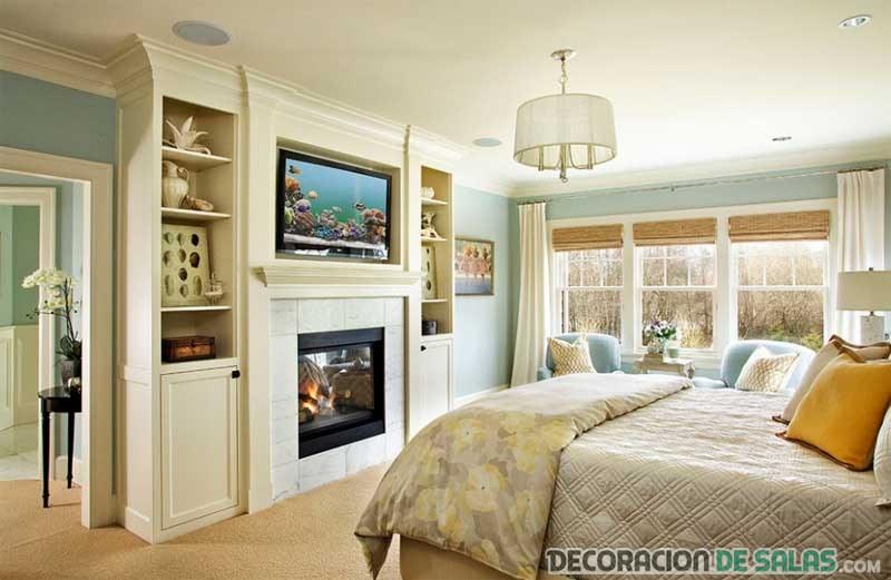 dormitorio clásico con tele