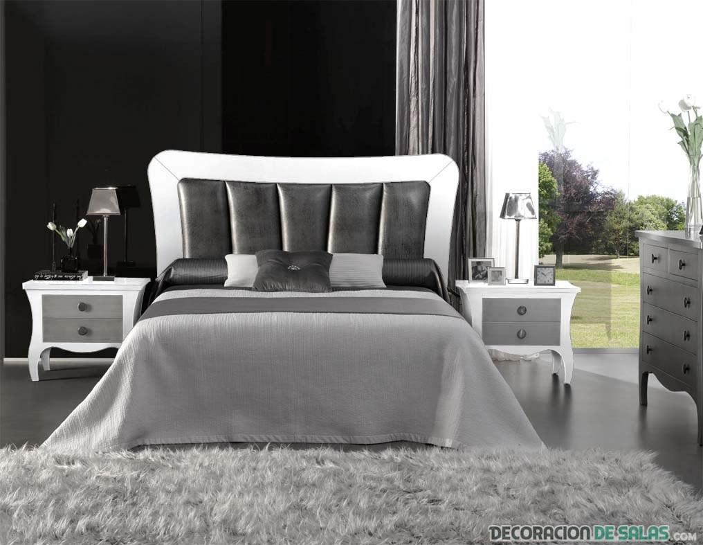 dormitorio con cabecero en negro