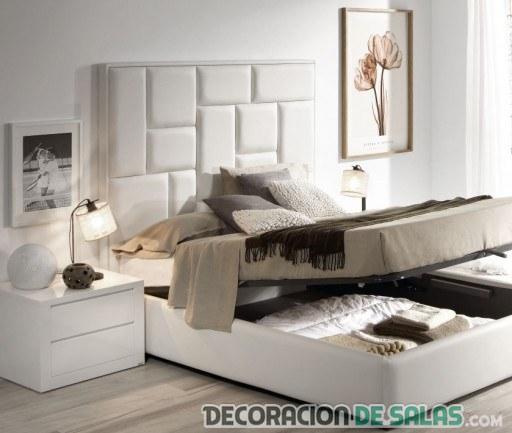dormitorio con cama canapé