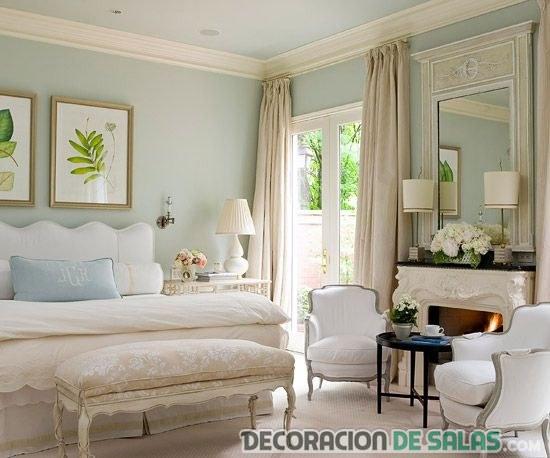 dormitorio con colores pastel