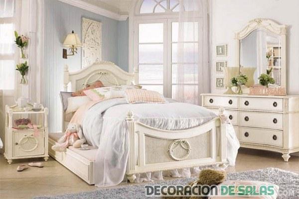 dormitorio con decoración muy chic