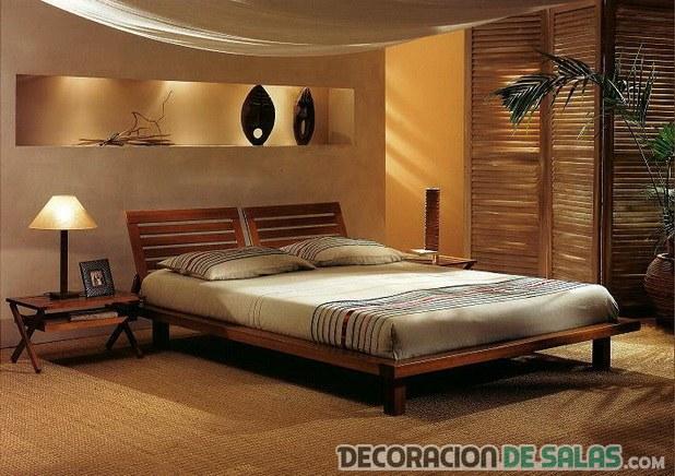 dormitorio con estilo zen