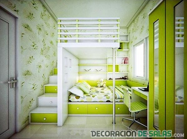 dormitorio con literas originales