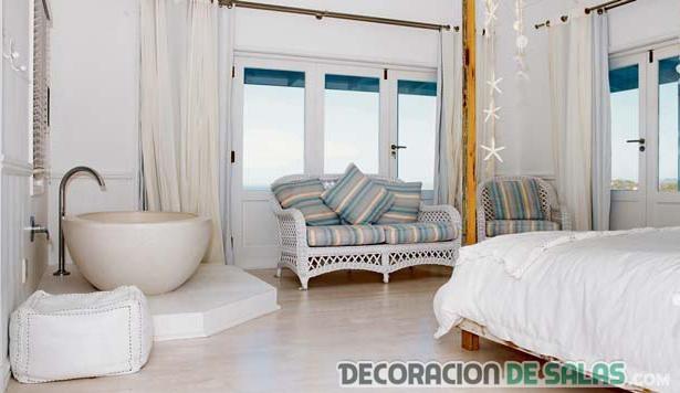 dormitorio con luz natural