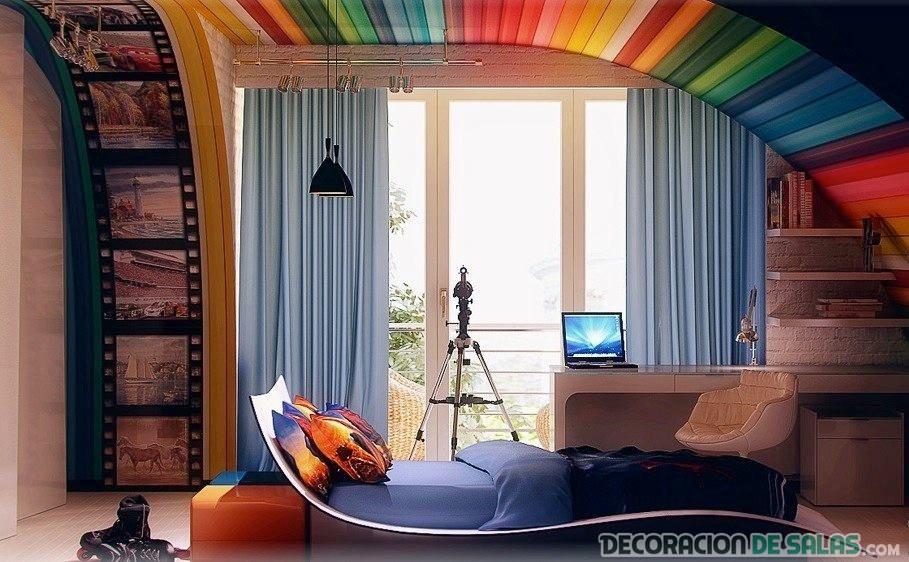 dormitorio con una originalidad moderna