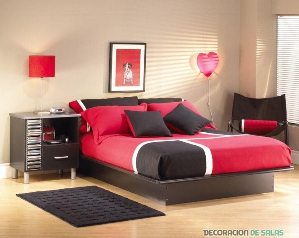 dormitorio de dos colores
