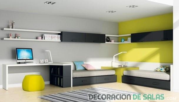 dormitorio doble minimalista