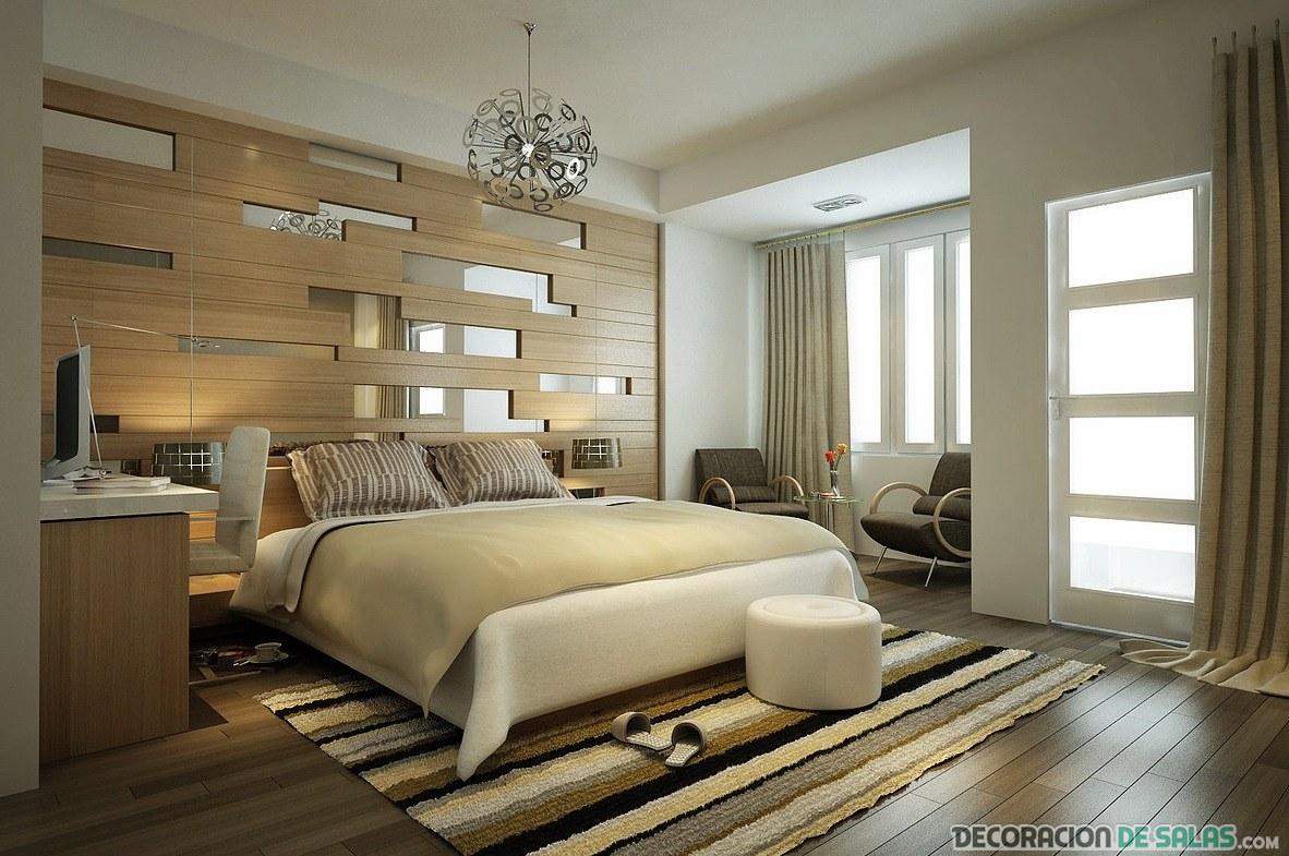dormitorio en beige con espejos