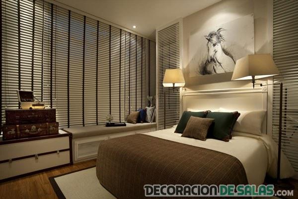 dormitorio en marrón elegante