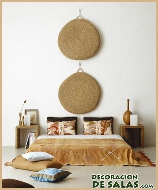 dormitorio étnico en color marrón claro