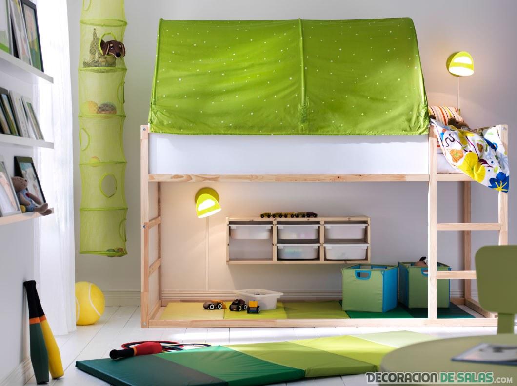dormitorio ikea con literas