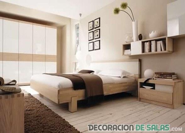 dormitorio individual marrón crema