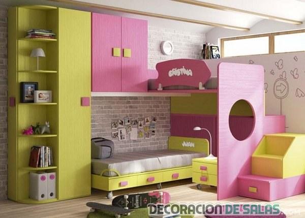 dormitorio infantil bicolor
