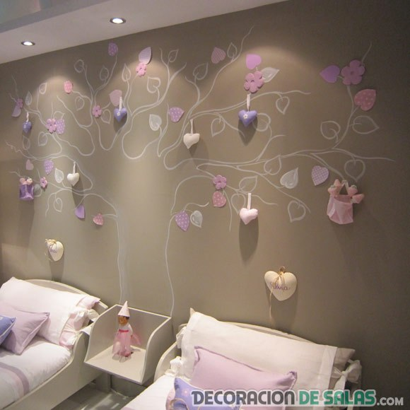 dormitorio infantil pared