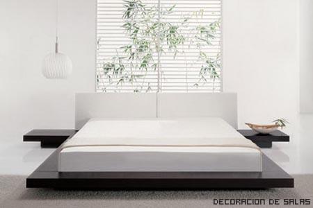dormitorio japones blanco