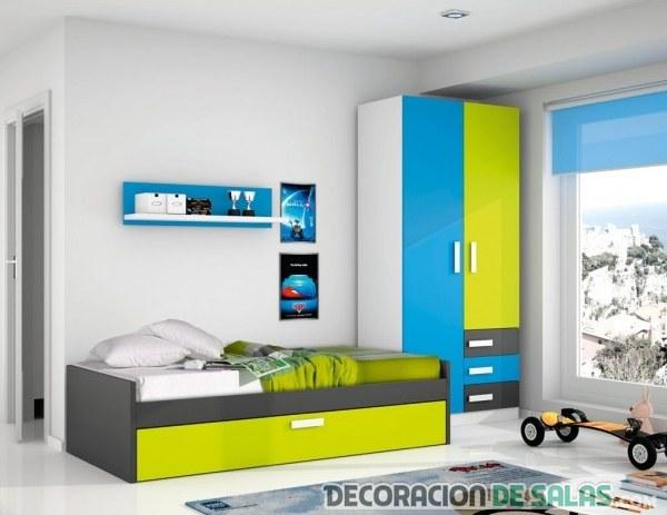 dormitorio juvenil combinado en color de merkamueble