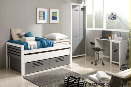 dormitorio juvenil luminoso