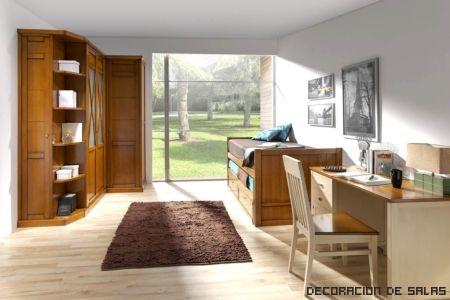 dormitorio juvenil madera