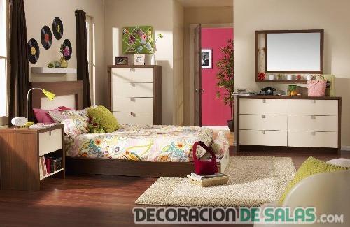 dormitorio madera chicas