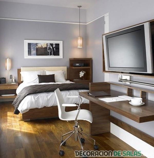 dormitorio masculino con oficina