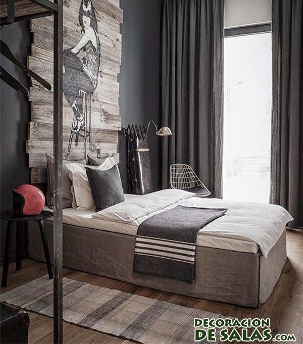 dormitorio masculino minimalista
