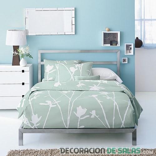 dormitorio matrimonio azul fresco