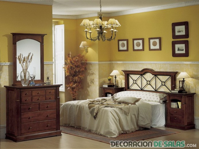 dormitorio matrimonio colores rústicos