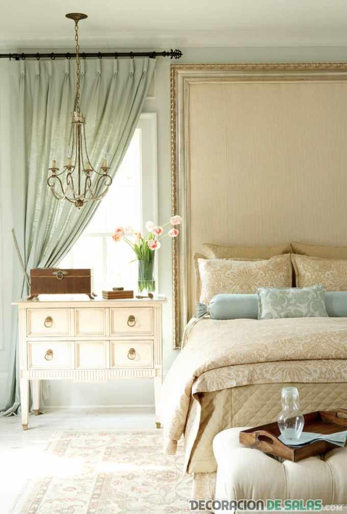 dormitorio matrimonio con estilo vintage