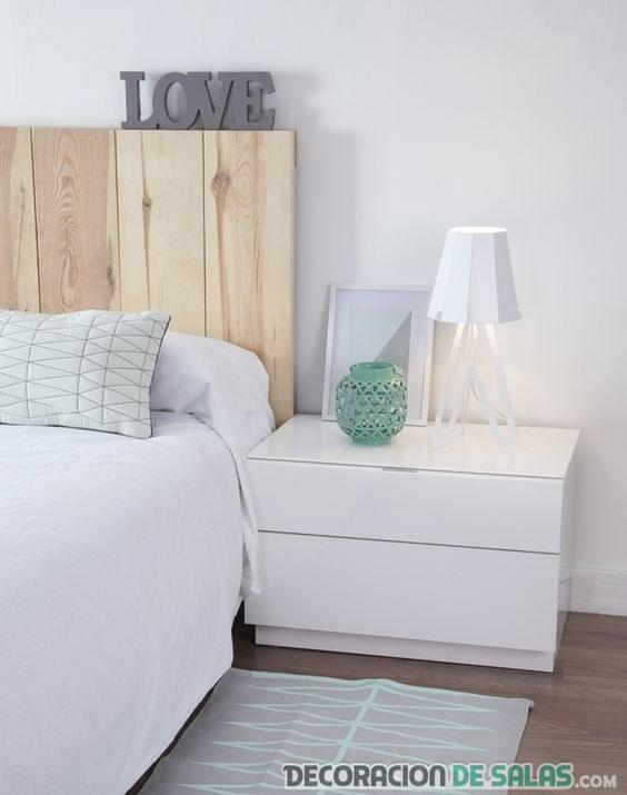 dormitorio mesitas en blanco