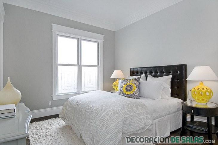 dormitorio moderno en blanco y negro combinado