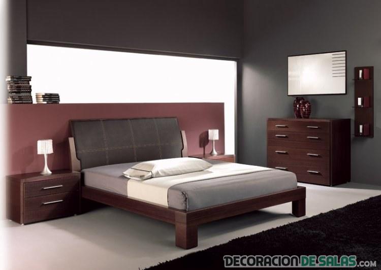 dormitorio moderno en marrón intenso