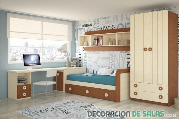 dormitorio moderno juvenil sencillo