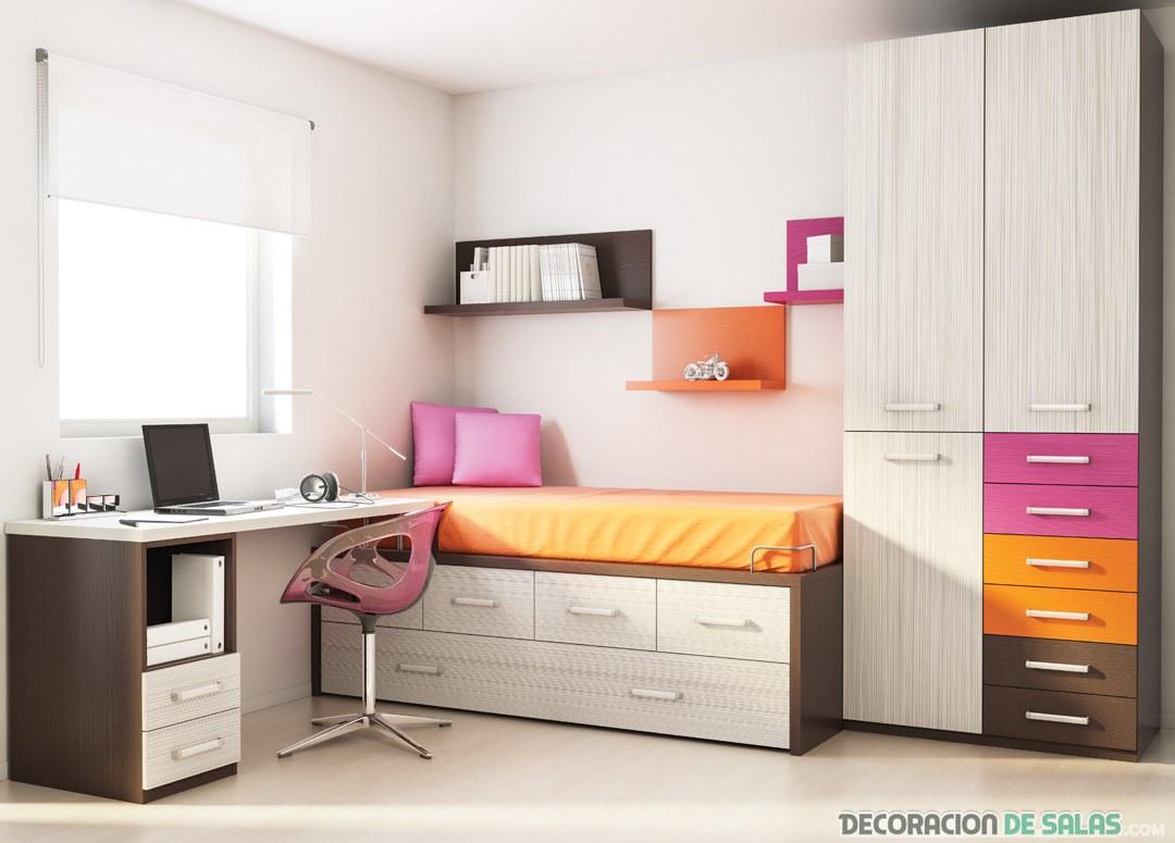 dormitorio moderno para chica