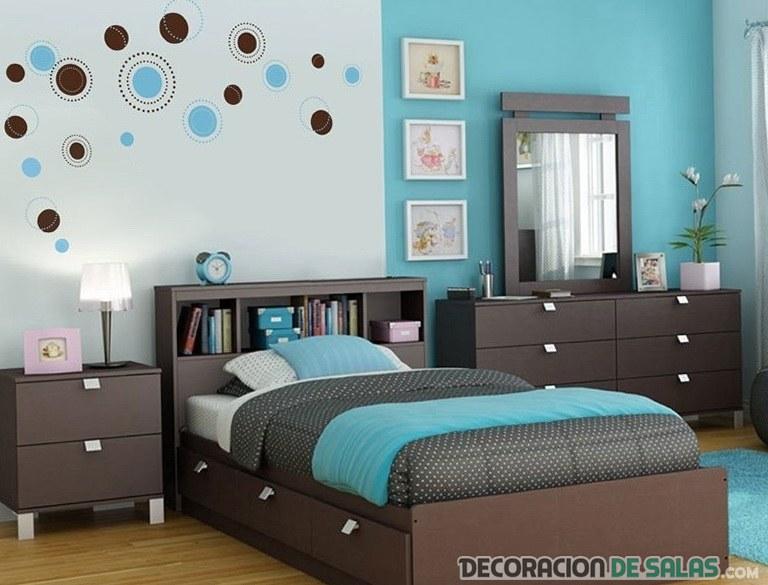 dormitorio moderno turquesa