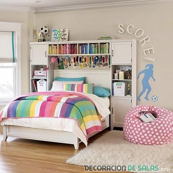 dormitorio mujer deportista