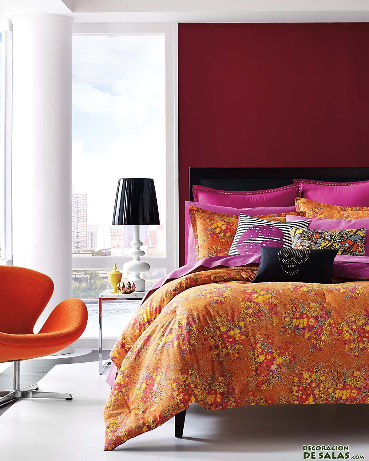 dormitorio naranja betsey johnson