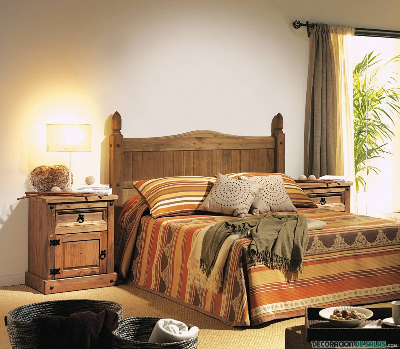 dormitorio rústico sencillo matrimonio