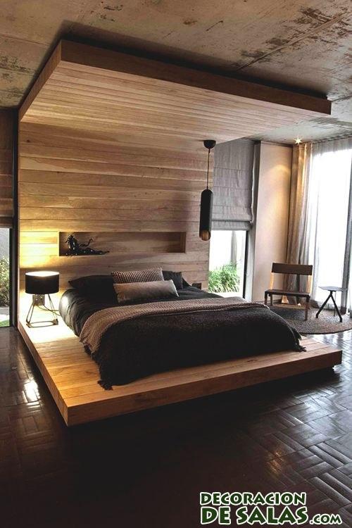 Dormitorio rústico y moderno