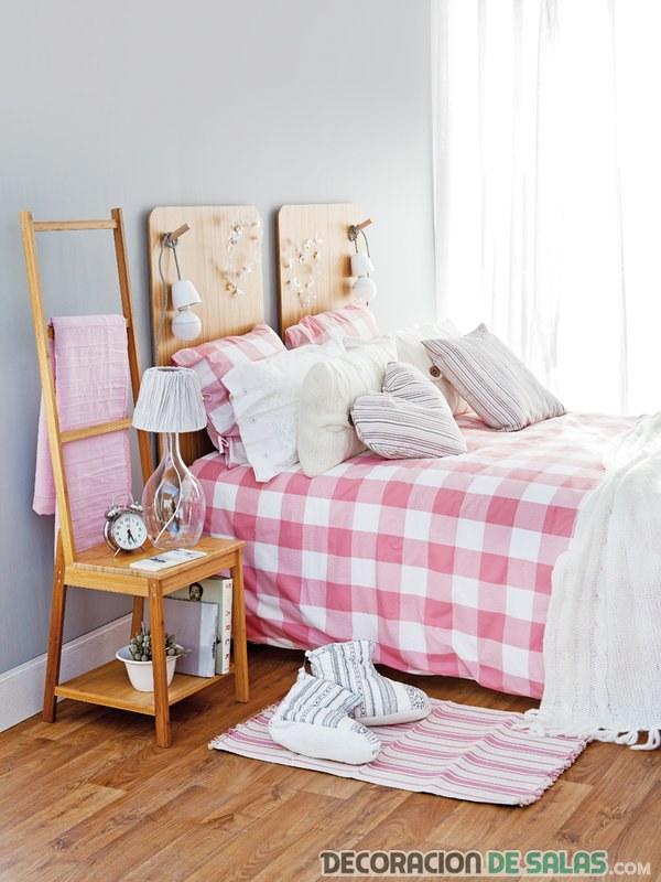 dormitorio sencillo reciclado