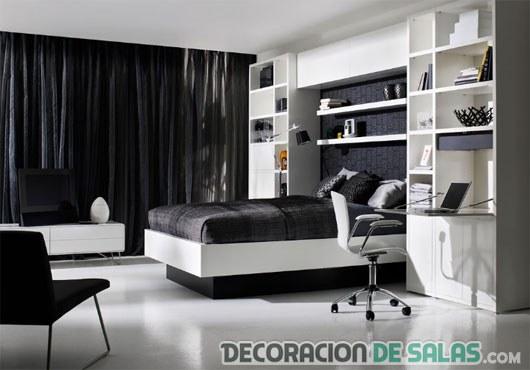 dormitorio son suelos en blanco